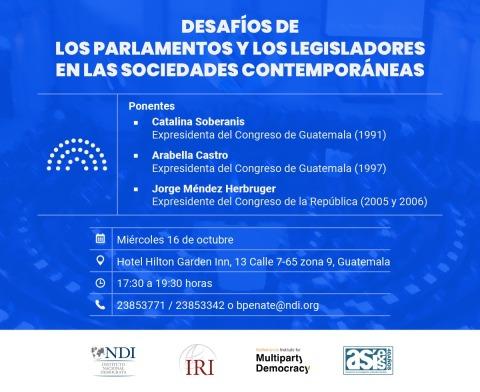 20191015_Invitación a foror_Desafíos de los parlamentos y los legisladores en las sociedades contemporáneas